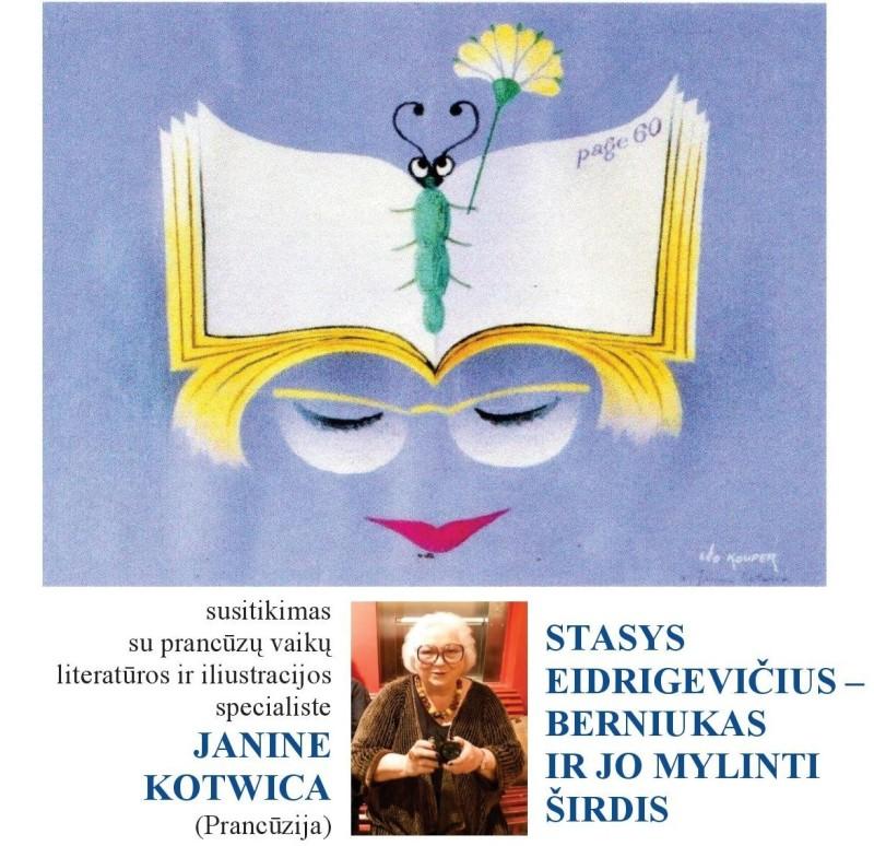 Susitikime su Žanina Kotvica – apie Stasio Eidrigevičiaus iliustruotas knygas