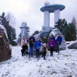 Snieguota projekto dalyvių kelionė