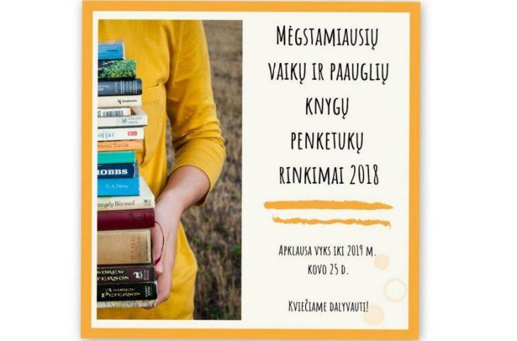 Mėgstamiausių vaikų ir paauglių knygų rinkimai 2018