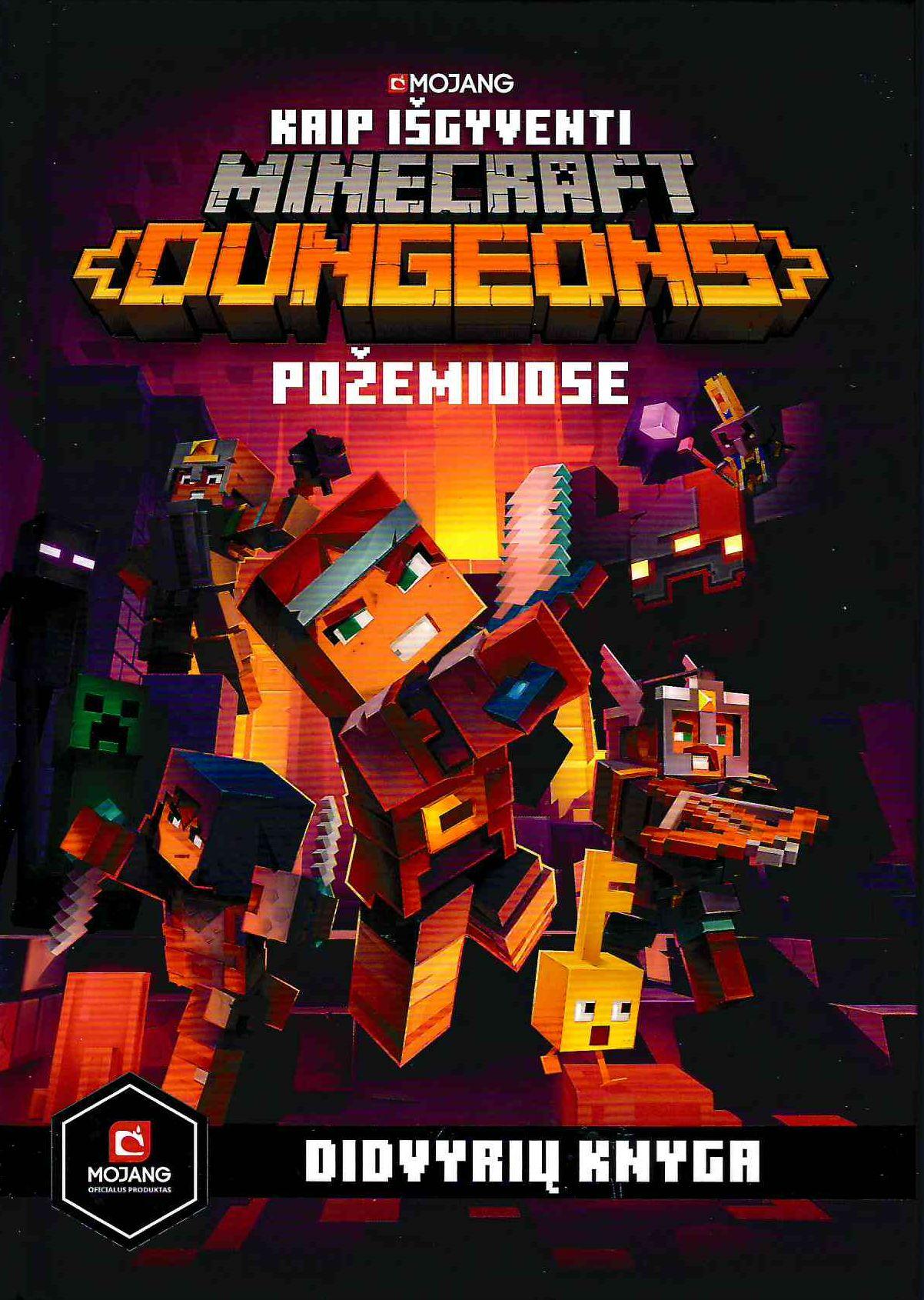 Minecraft dungeons. Kaip išgyventi požemiuose